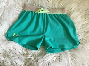 Girls Under Armour Shorts Green Size 10 $4.90