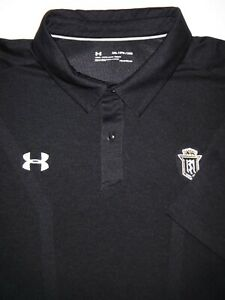 UNDER ARMOUR GOLF POLO SHIRT 3XL BLACK COAL BREATHABLE POLY STRETCH HEAT GEAR $9.99