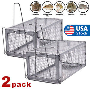 2x Rat Trap Cage Small Live Animal Pest Rodent Mouse Control Catch Hunting Trap