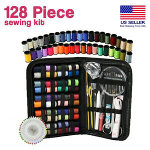 128x Home Travel Sewing Kit Thread Threader Needle Tape Measure Scissor Thimble $10.88