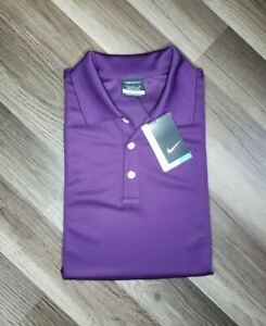 Men's NWT Nike Dri Fit Golf Shirt Purple Simply Beverages Size M 363807 $19.99