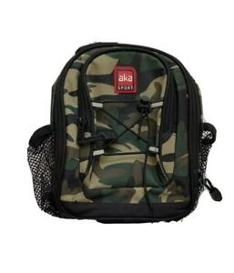 AKA Sport Mini Backpack Insulated Lunch Bag Tote Green Camo Mesh Pockets