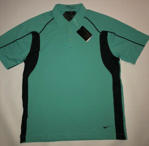 Nike Golf Dri Fit S S Polo Golf Shirt Stretch Turquoise Green NEW Men's Large $37.99