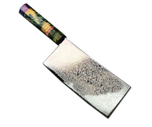 Damascus Steel Kitchen Chef Knife Chinese Clever Sharp Slicing Meat