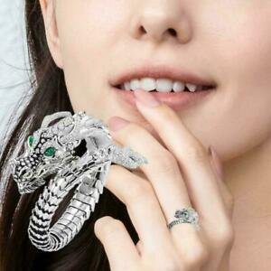 Individual Creativity Dragon Shaped Real White Topaz Rings O0N1