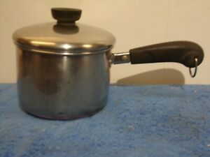 Vtg 1801 Revere Ware 1 1/2 Quart Sauce Pan Copper Clad Bottom With Lid (A-5)B.B.