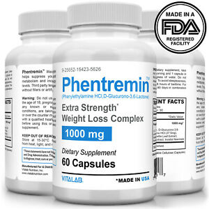 Phentremin® Extra Strength Weight Loss Complex 1000mg Appetite Suppressant 37.5