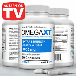 Official Omega XT Extra Strength Joint Support Omega 3 Joint Pain Relief 60ct