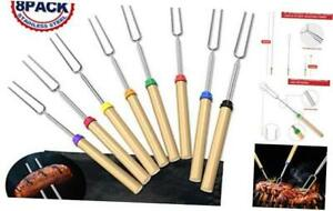Adoric Marshmallow Roasting Sticks, Roasting Sticks with Wooden Handle 32 Inch E