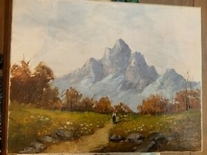 Oil painting antique from john Henry fearnly circa 1850 $95.00