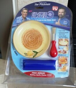 NEW! Ceramic Grater Plater & Bonus Garlic Peeler, As Seen on TV Kitchen