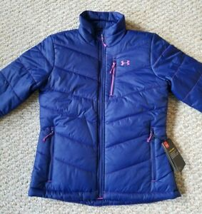 Under Armour Storm Cold Gear NEW Womens 1321441 294 Blue Puffer Jacket Size S $62.99