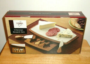 B. SMITH MARBLE CHEESEBOARD SET CUTTING BOARD DRAWER WITH UTENSILS