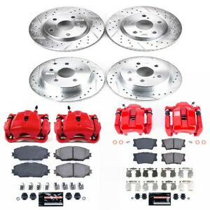 KC4100C Powerstop 4-Wheel Set Brake Disc and Caliper Kits Front