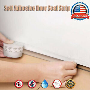 16Ft Self Adhesive Door Sealing Strip Weather Stripping Bottom Rubber Stopper