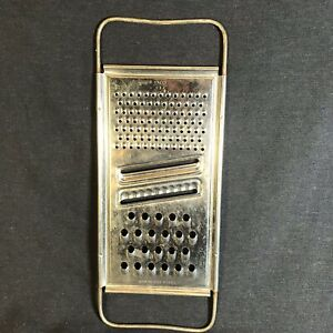 VTG Ekco Flat Shredder Grater 4 In 1 Stainless Wire Handles Fine Coarse Slice