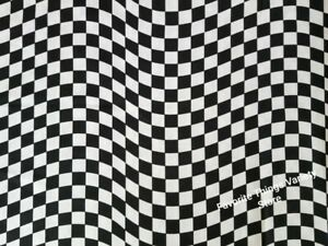 NASCAR WAVY CHECKERED FLAG 42quot;W x 9quot;L NEW cotton fabric by Springs Masks crafts