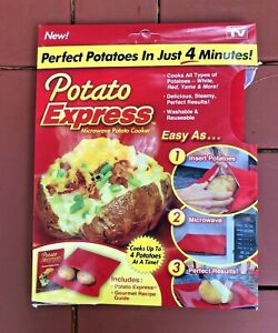 Potato Express Microwave Baked Potato Cooking Bag (Cooks 4 Potatoes at Once)