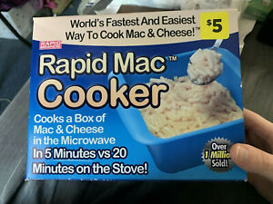 New Rapid Mac Cooker 1 Pack - Microwave Mac&Cheese in 5 min Box faded