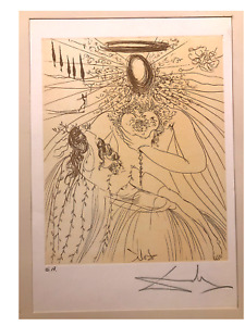 A beautiful SALVADOR DALI Etching quot;Pietaquot; Signed Artist Proof Nice A Cond. $475.00