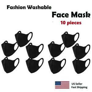 10 pack Black Face Mask , Washable, Reusable, Unisex, Free Same Day Shipping