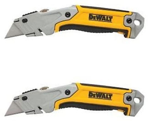 DeWalt Box Cutter Utility Knife Retractable Blade Storage Rapid Load Set 2