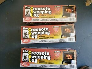 LOT OF 3 The Creosote Sweeping Log Fireplace Woodstoves Creosote Removing Log