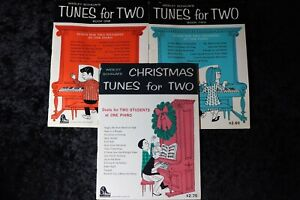 Wesley Schaum#x27;s TUNES FOR TWO Piano Duets for 2 Students Books 1 2 Christmas $10.95