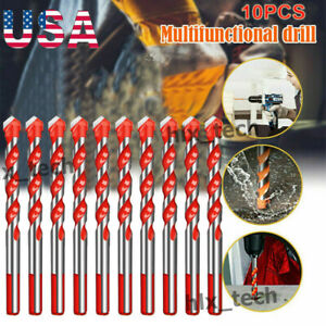 10PCS Drill Bits Multifunctional Ceramic Wall Glass Punching Hole Working Set