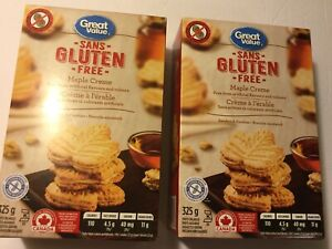 Great Value Gluten Free Mape Cream Cookies X2 325g Boxes