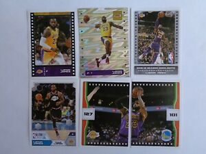 LEBRON James Lakers 6 2019 20 PANINI BASKETBALL STICKER Lot Foil Puzzle more