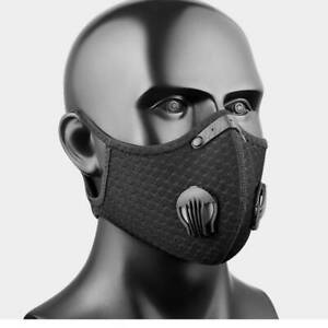 Outdoor Cycling Running Sport Mask with Carbon Filter with Valves Reusable USA $9.37