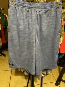 Under Armour Youth Size YLG Loose Fit Shorts Blue 100% Polyester $3.61