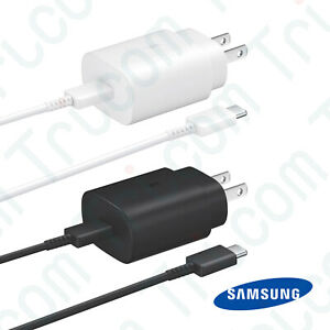 Original Samsung Galaxy Note 10 25W Super Fast Wall Charger Type C Data Cable $11.99