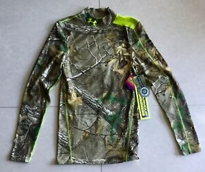 $95 UNDER ARMOUR Realtree Compression Cold Gear Camo Camouflage Activewear shirt $39.95