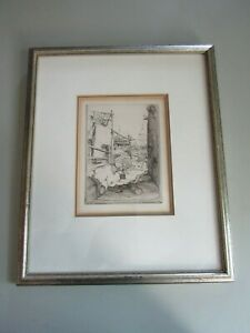 JOHN TAYLOR ARMS etching  signed and dated 1926 $100.00