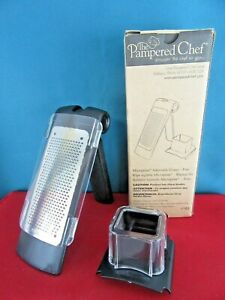 THE PAMPERED CHEF Microplane Adjustable Grater - FINE - No. 1105 Zester Tool