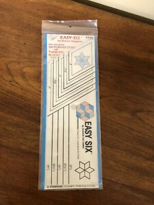 EZ Easy Six Template Ruler for 6 Pointed Stars amp; Tumbling Blocks MIP $7.49