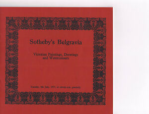 Sotheby#x27;s Belgravia Victorian Paintings Drawings amp; Watercolours July 8 1975 $4.98