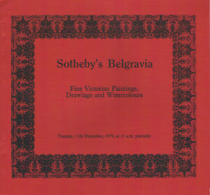 Sotheby#x27;s Belgravia Victorian Paintings Drawings amp; Watercolours Dec 11 1979 $5.98