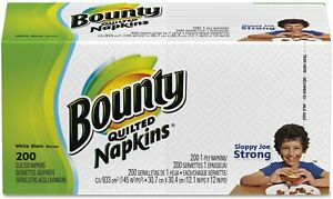 Bounty Quilted Dinner Napkins, 1-Ply, 200/Pack