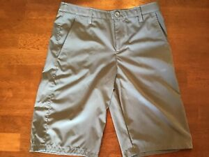 UNDER ARMOUR Boys' Loose GOLF Shorts SIZE YLG Youth Large Gray $10.50
