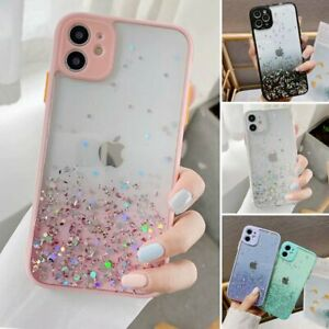 For iPhone 12 Pro Max 11 XR XS MAX 8 7 Case Slim Bling Glitter Clear Girly Cover $7.88