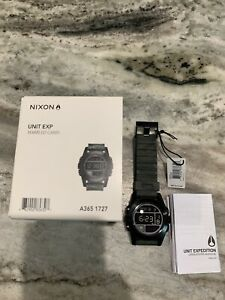 Nixon Unit Expedition Mens Digital Watch Black Marble Camo
