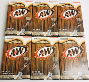 6 Boxes Aamp;W Root Beer Drink Mix On The Go Single Packets Water Enhancer