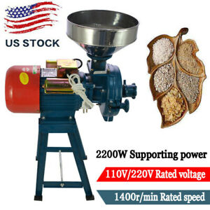 Corn Feed/Flour Cereals Electric Wet & Dry Grinder Mill  Grain 110V 2200W Wheat