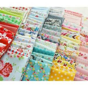 100Pc Assorted Quarters Bundle Quilt Quilting Cotton Fabric DIY Sewing US ✔ $8.54
