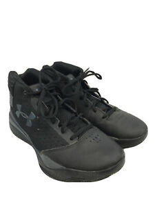 Under Armour Boys Kids Black Lace Up Basketball Shoes Sz 7Y $30.49