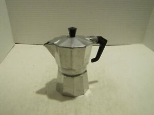 VTG PEZZ ETTI EXPRESS STOVE TOP ESPRESSO COFFEE MAKER MADE IN ITALY USED