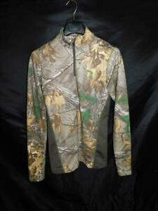 Under Armour M Fitted Camo Scent Control Shirt Realtree Xtra Cold Gear Mock Neck $17.95